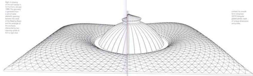 The dome is also designed with a careful consideration to the amount of energy needed to