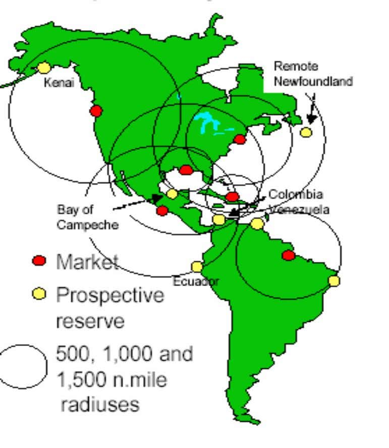 Prospective Projects- Western Hemisphere Source: Zeus Development Corporation, 2002