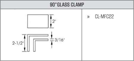 90°GLASS CLAMP » CL-MFC22