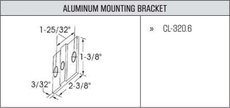 ALUMINUM MOUNTING BRACKET » CL-320.6