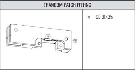 TRANSOM PATCH FITTING » CL-317.35