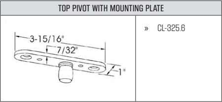 TOP PIVOT WITH MOUNTING PLATE » CL-325.6