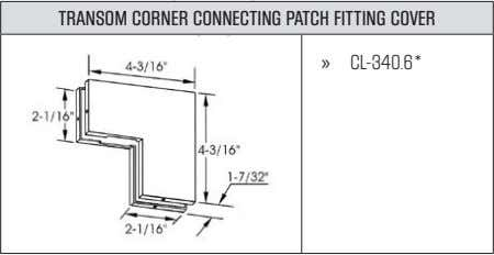 TRANSOM CORNER CONNECTING PATCH FITTING COVER » CL-340.6*