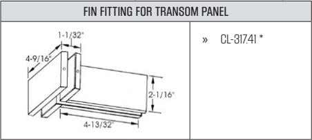 FIN FITTING FOR TRANSOM PANEL » CL-317.41*