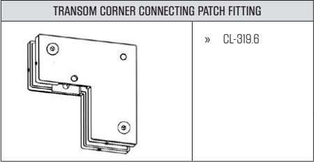 TRANSOM CORNER CONNECTING PATCH FITTING » CL-319.6