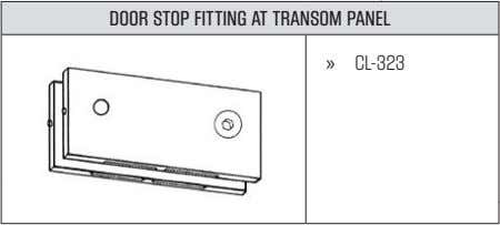 DOOR STOP FITTING AT TRANSOM PANEL » CL-323