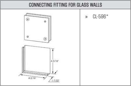 CONNECTING FITTING FOR GLASS WALLS » CL-596*