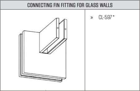 CONNECTING FIN FITTING FOR GLASS WALLS » CL-597*