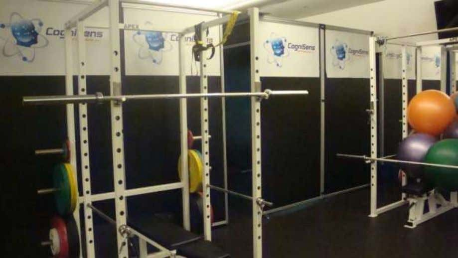 CogniSens Athletics Neurotracker Cave integrated in the Strength and Conditioning facilities of a leading NHL team
