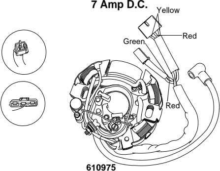 7 Amp D.C. Yellow Red Green Red 610975