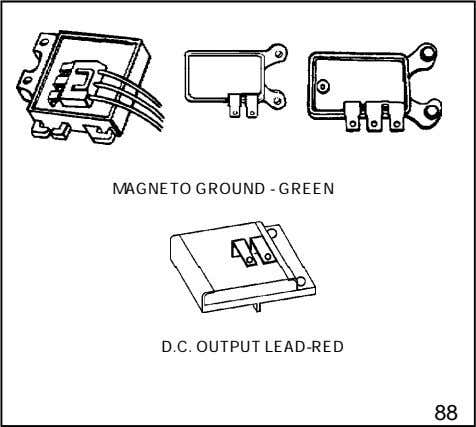 MAGNETO GROUND - GREEN D.C. OUTPUT LEAD-RED 88