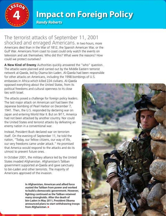 S O 4 Impact on Foreign Policy S Randy Roberts The terrorist attacks of September