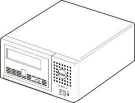 View (Internal Model) Figure 2. Front View (External Model) SCSI Bus Interface interface These tape is