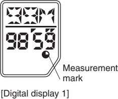 Measurement mark [Digital display 1]