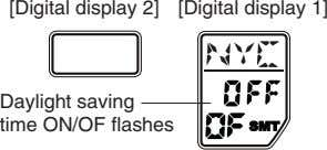 [Digital display 2] [Digital display 1] Daylight saving time ON/OF flashes