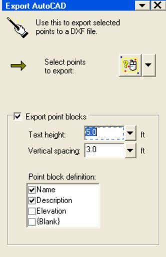Exporting to AutoCAD 1. Select File > Export > AutoCAD (.DXF)… 2. Click to activate