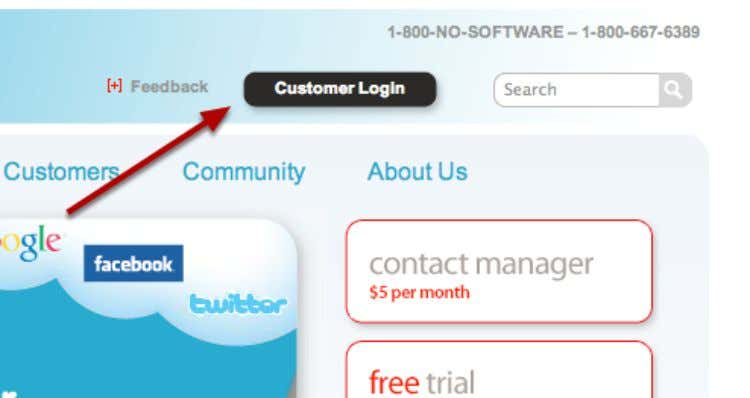 How do I log in? Select Customer Login Go to http://salesforce.com and click Customer Login .