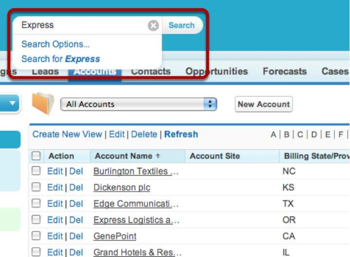 How do I create a new account? Search for Existing Account Before you create a new