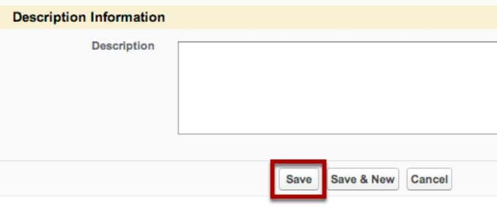 in Opportunity details Fill in the Opportunity details. Save Click Save when you have finished filling
