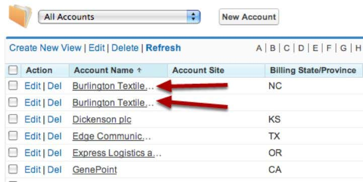 tool to merge the accounts into one. Duplicate Accounts If you find two accounts for the
