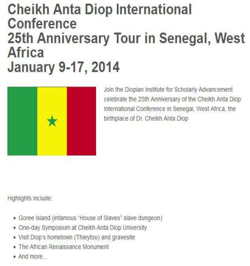EVENT: JAN/SENEGAL DIOPIANINSTITUTE.ORG