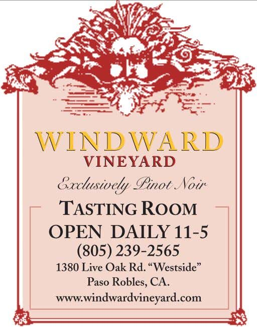 WINE COUNTRY THIS WEEK WINERY LISTINGS 2 1 www.winecountrythisweek.com