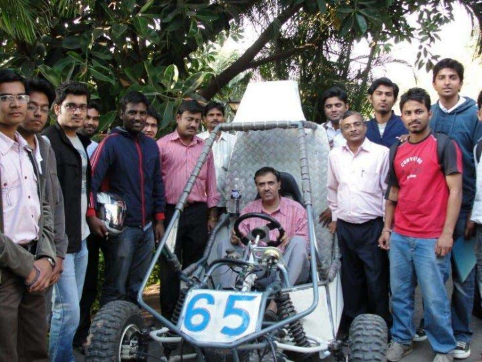 Vehicle:- ( File Photo of Soulreapers Racing Year:2010 Team with Principal Dr. A.V. Deshpande Site: