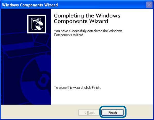 for Windows ® XP/Me (continued) Click Next Click Finish Please wait while Setup configures the components.