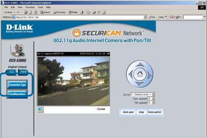 Internet browser (continued) Home Page Screen (continued) There are two buttons on the left side of