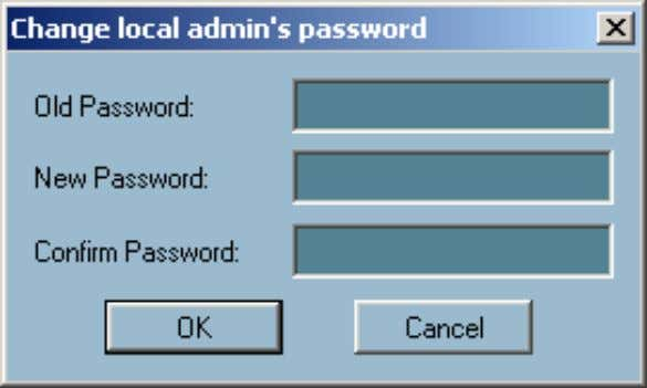 is implemented. The change password dialog looks like this:  Autorun at Startup Users can select