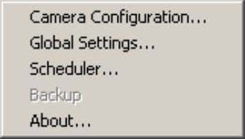 "password of the camera in order to run the configuration. Once you click ""Configuration Menu >"