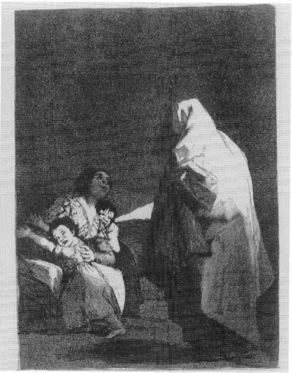 "4 THE FEMALE THERMOMETER Figure 1.1. Images of the uncanny, (a) Goya's ""Que biene el Coco"""