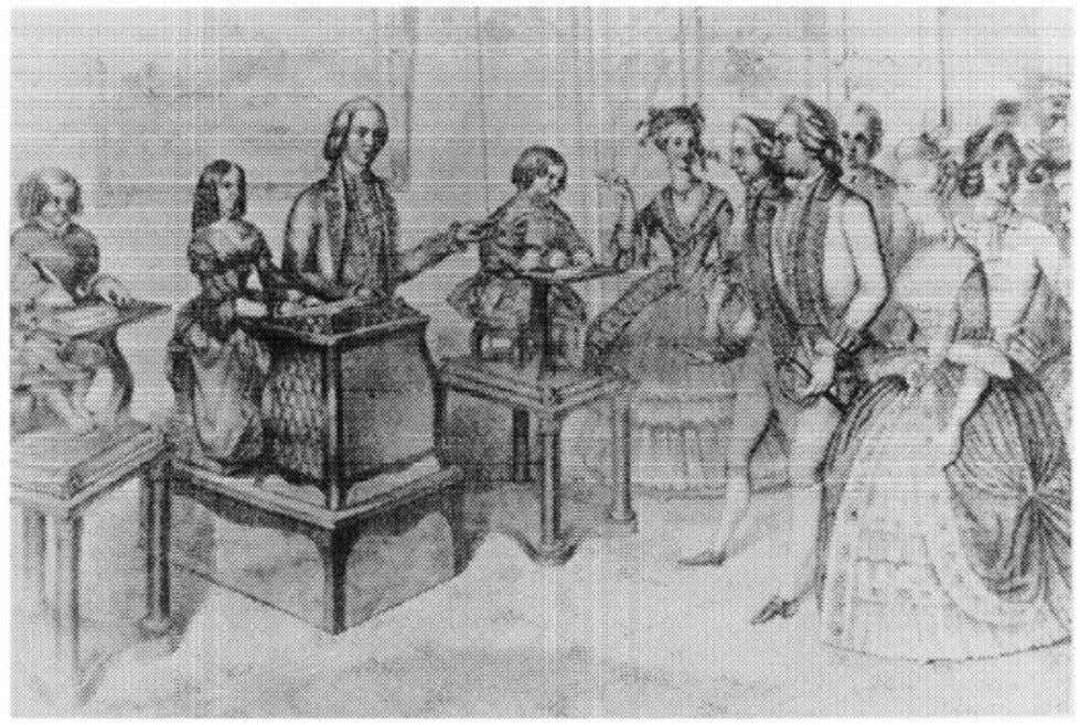 "from J. C. Beaune, ""The Classical Age of Automata."" Figure 1.4. Anonymous engraving of eighteenth-century"