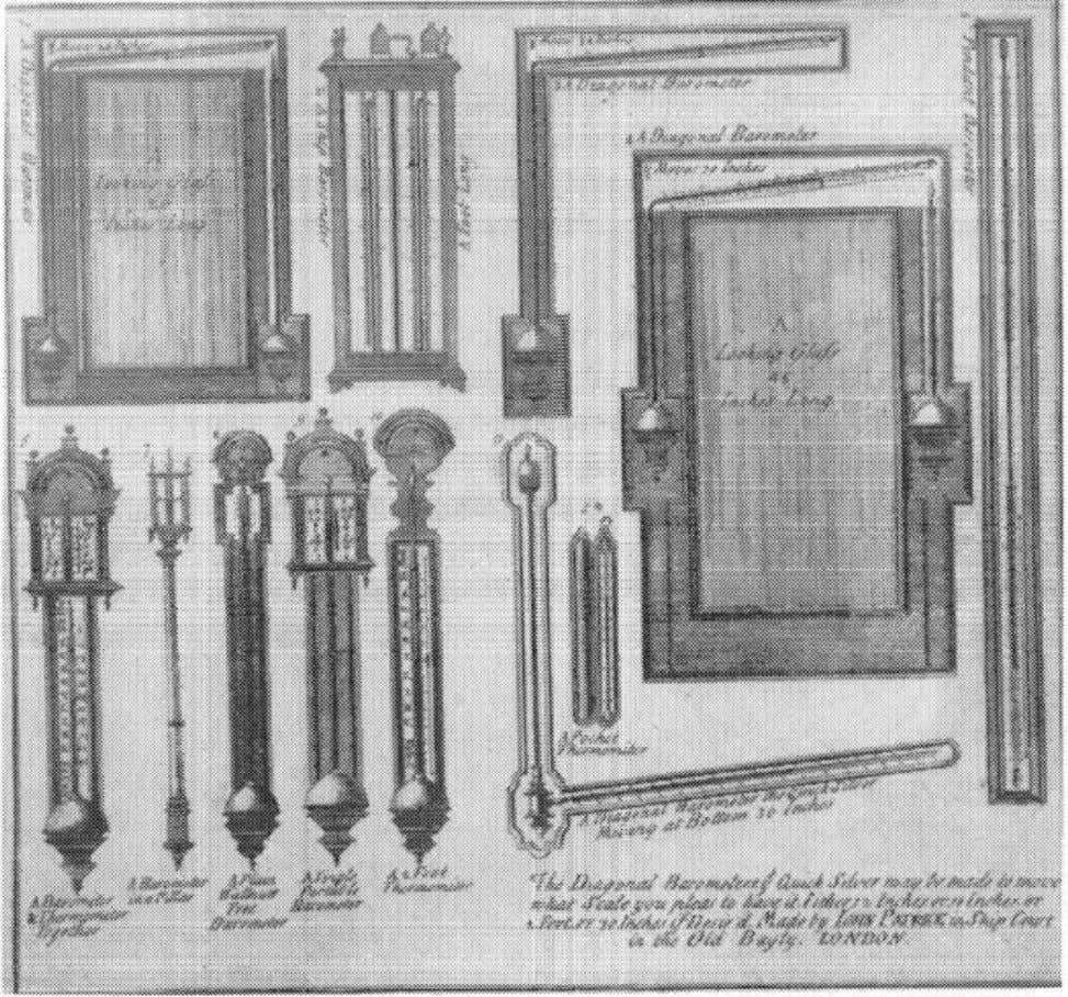 24 THE FEMALE THERMOMETER Figure 2.1.John Patrick, advertisement for barometers and thermometers, c. 1710. Courtesy of