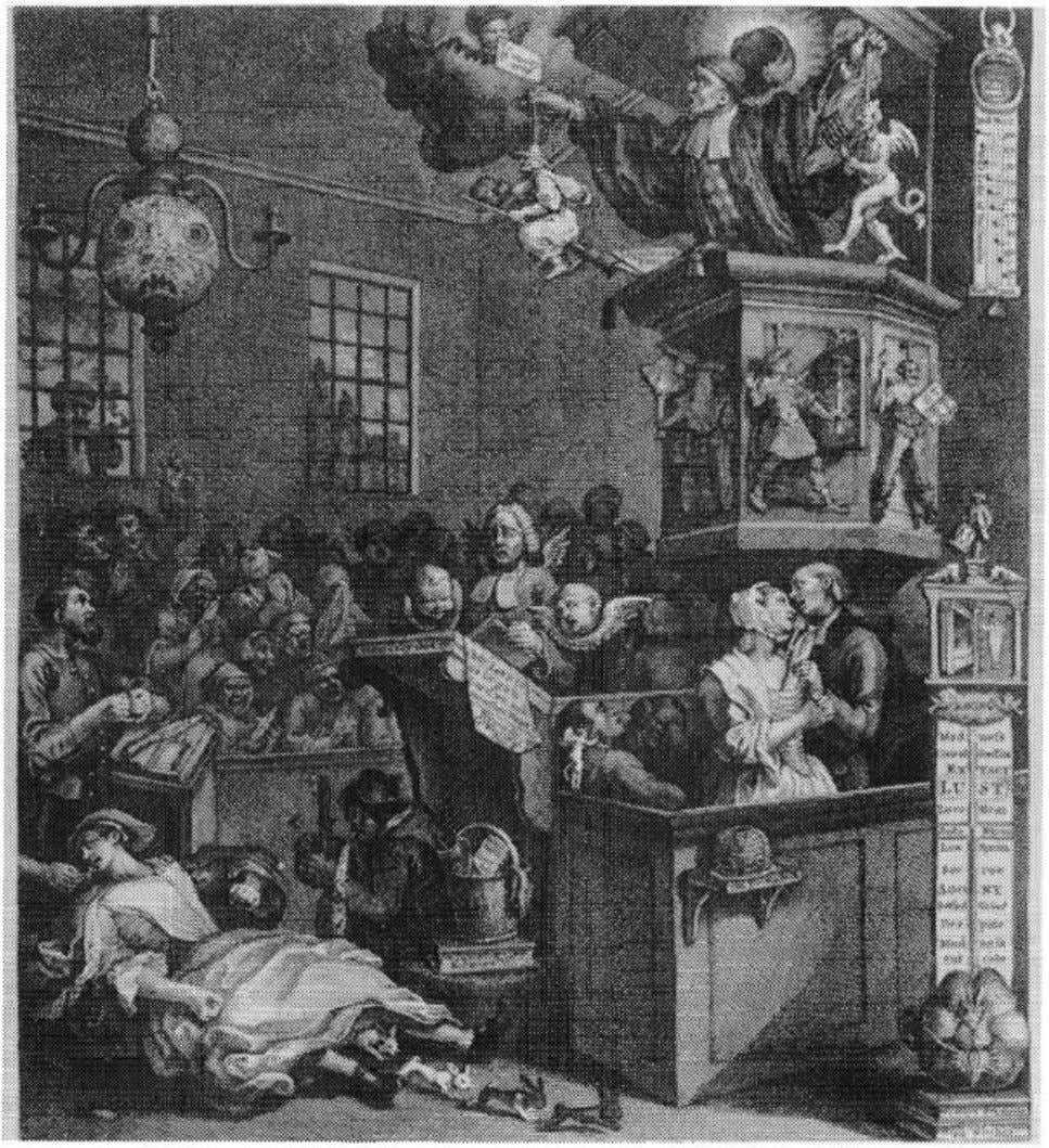 The Female Thermometer 29 Figure 2.3. William Hogarth, Credulity, Superstition, and Fanaticism, 1762. Courtesy of the