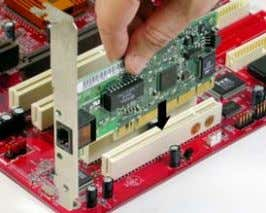 bracket of the card to the system chassis with a screw. PCI Express x16 slot The