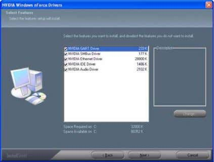program to open the NVIDIA Windows nForce Drivers page. Figure 1.3 nForce Driver Installation Window 2