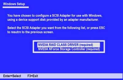 S, then press Enter. The following Windows Setup screen appears: Figure 1.12 Windows Setup—Selected SCSI Adapter