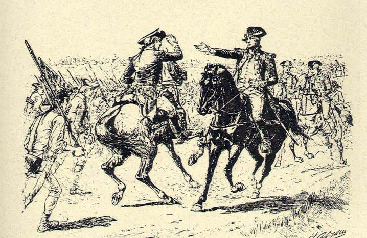 Regiments . 5. The Monmouth Campaign, 19 to 27 June 1778 Gen. George Washington confronts Maj.