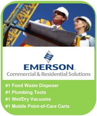 #1 Food Waste Disposer #1 Plumbing Tools #1 Wet/Dry Vacuums #1 Mobile Point-of-Care Carts