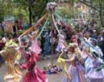 are the Morris Dancers with bells and staves invoking fertility and any child conceived that night