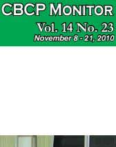 CBCP Monitor Vol. 14 No. 23 November 8 - 21, 2010