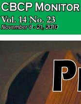 www.upload.wikimedia.org CBCP Pastoral Concerns Vol. 14 No. 23 November 8 - 21, 2010 B1 Promoting compulsory