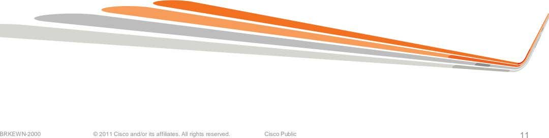 BRKEWN-2000 © 2011 Cisco and/or its affiliates. All rights reserved. Cisco Public 11