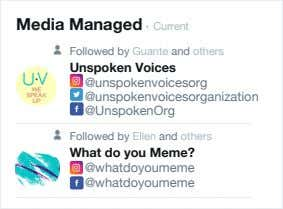 Media Managed • Current Followed by Guante and others Unspoken Voices @unspokenvoicesorg @unspokenvoicesorganization