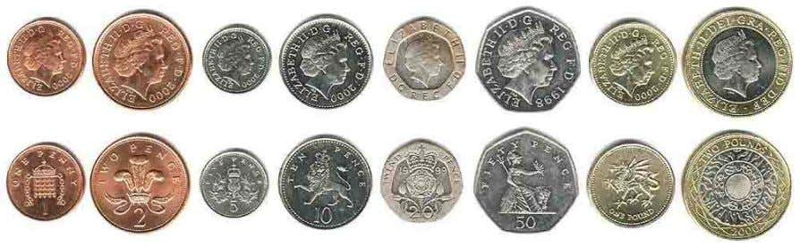 in the title of the 'Royal Mint' and the representation of the monarch on all circulating