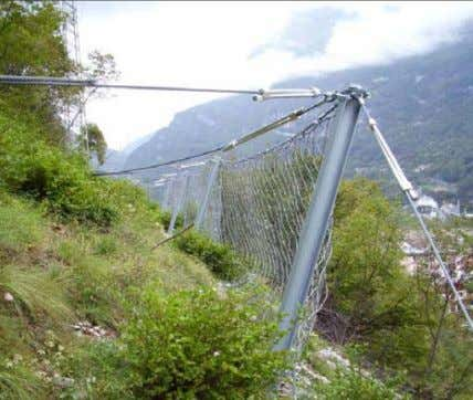 Fig 3: Barrier system Fig 4: Rock Fall protection Embankment 4.2.2. Rock fall Protection Barriers