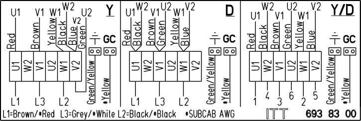 board 6-leads, Y, D or Y/D connection, with terminal board 24 8104.081/.180 Major Installation, Operation, and
