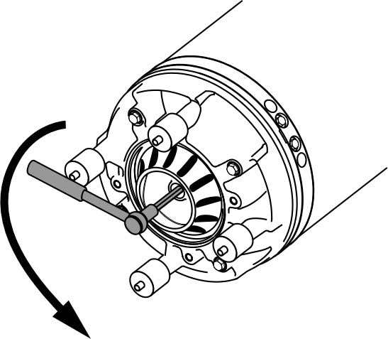 Maintenance c) Pull off the impeller. Install the impeller N, H 1. Prepare the shaft: a)
