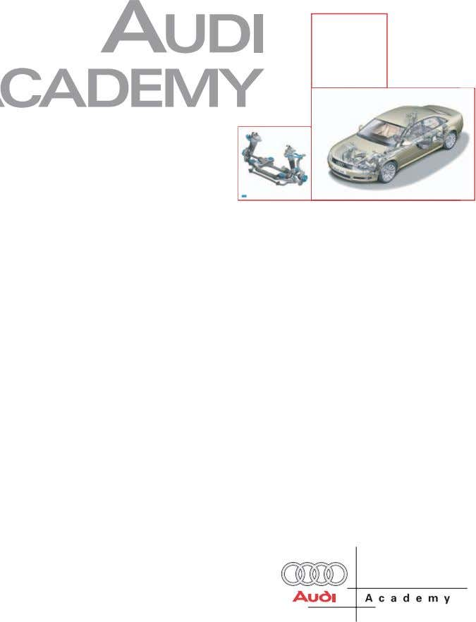Chassis Systems SSP Self-Study Program Course Number 997303